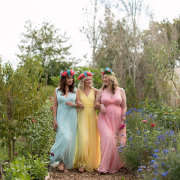 bridesmaids dress, flower crown - Jacoba Clothing