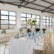 floral centrepieces, table settings - THE VIEW at Infinity Studios