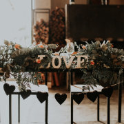 greenery, roses, wedding decor