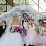 bouquets, bride and groom, bride and groom, bride and groom, flower girls - Nooitgedacht