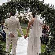 bride and groom, bride and groom, bride and groom, outdoor ceremony - Quoin Rock