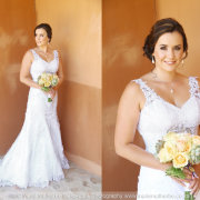 bouquet, makeup, hairstyle, wedding dress