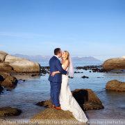 beach, bride and groom, mountain - Marié Malherbe Makeup, Hair & Photography