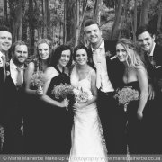 black and white, bridal party, bridesmaids, groomsmen - Marié Malherbe Makeup, Hair & Photography