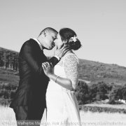 black and white, bride and groom, kiss