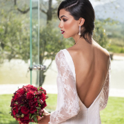 bridal accessories, bridal makeup, earrings, lace, lace, lace wedding dresses, open back, open back wedding dress, wedding dresses, wedding dresses, wedding gowns - Geo Bridal