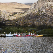 bridal party, mountain view, boats - Wolfkop Camping Villages - Wedding Venue & Accommodation