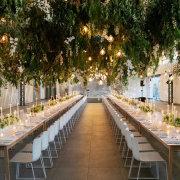 candles, hanging decor, hanging greenery, naked bulbs - Cavalli Estate