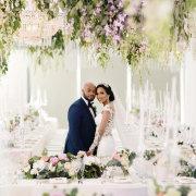 bride and groom, bride and groom, bride and groom, hanging decor, hanging florals - Cavalli Estate