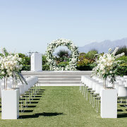 floral arches, outdoor ceremony - Cavalli Estate