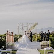 arches, floral arches, floral decor, geometric, geometric decor, outdoor ceremony - Cavalli Estate