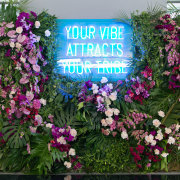 flower wall, lighting, sound and lighting, floral wall - Aleit Weddings