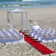 beach wedding - Lagoon Beach Hotel