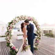 flower arch - Lagoon Beach Hotel