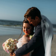 bouquet, bride, groom - Lagoon Beach Hotel