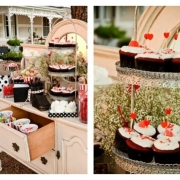candy bar, candy station, cupcake, dessert - La Tilma Weddings