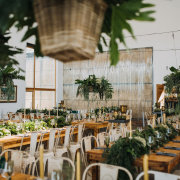 floral runner, hanging florals, hanging greenery - The Grand Botanist