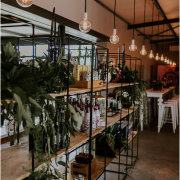 floral decor, naked bulbs - The Grand Botanist