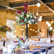 hanging decor, naked bulbs, winter wedding - 401 Rozendal