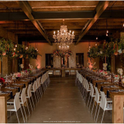 hanging florals, winter wedding - 401 Rozendal