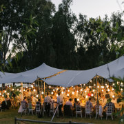 tent, naked bulbs - Avant Garde Weddings & Events