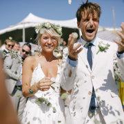 confetti, flower crown, suit - Avant Garde Weddings & Events