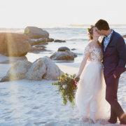 beach wedding, bride and groom, bride and groom, bride and groom, kiss, kiss, kiss - Bells & Whistles