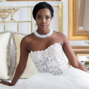 makeup, necklace, wedding dress - Bona Dea Private Estate