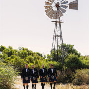 groom and groomsmen, kilts - Bosduifklip