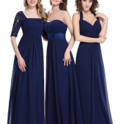 bridesmaids dresses, navy - Bridal Allure