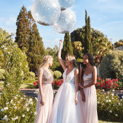 balloons, bridesmaids dresses, wedding dresses, wedding dresses - Bride&co
