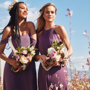 bouquets, bridesmaids dresses, lilac - Bride&co