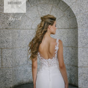 bridal hair, hairstyles, lace, lace, wedding dresses, wedding dresses - Calegra Bridal House