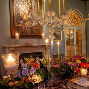 candles, floral centrepieces, table decor with candles - Casa Labia