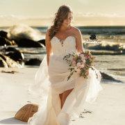 beach, bouquets, wedding dresses, wedding dresses - Cindy Bam