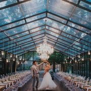 bride and groom, bride and groom, chandelier, wedding venue - Cindy Bam