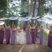 bride and bridesmaids - Diemersfontein Wine & Country Estate