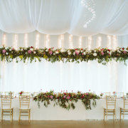 draping, fairy lights, floral decor, hanging decor - Eensgezind