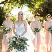 bouquets, bride and bridesmaids - Eensgezind