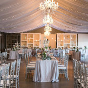draping, fairy lights, lighting, wedding decor - Eensgezind