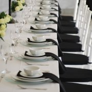black and white, table decor