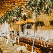 geometric hanging decor, hanging greenery - Florence Guest Farm