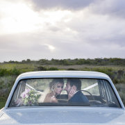 bride and groom, bride and groom, car - Kaitlyn De Villiers Photography