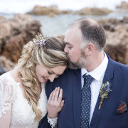 beach, boutonniere, bride and groom, bride and groom - Kaitlyn De Villiers Photography