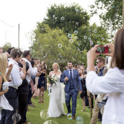 bride and groom, bride and groom, bubble confetti, confetti - Kaitlyn De Villiers Photography