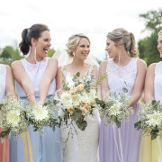 bouquets, bride and bridemaids, roses - Kaitlyn De Villiers Photography