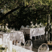 candles, outdoor reception, table decor with candles - Khaya Ndlovu Manor House
