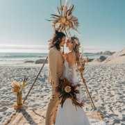 beach wedding, floral arches, floral decor - My Pretty Vintage