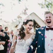 bride and groom, bride and groom, confetti - Planned To Perfection
