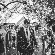 bride and groom, bride and groom, bride and groom, confetti - Rosemary Hill